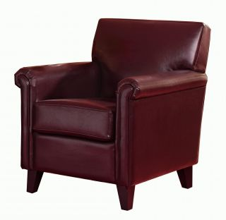Christopher Knight Home Leeds Red Bonded Leather Club Chair
