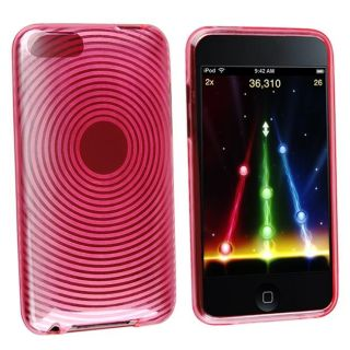 Pink Circle TPU Rubber Case for Apple iPod Touch 2nd/ 3rd Generation