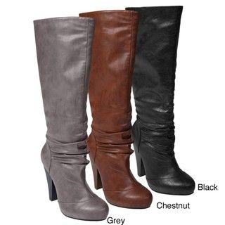 Bamboo by Journee Womens Mid calf Platform Boots