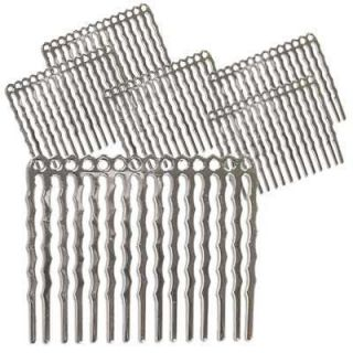 Silverplated Beading Project Hair Combs