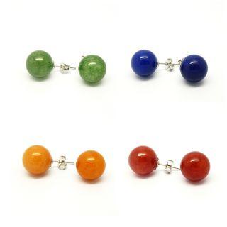 Pretty Little Style Silvertone Jade Stone Colors Earrings Today $11
