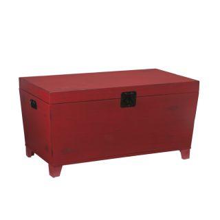 Vintage Bound Steamer Trunk Coffee Table Storage Blanket Box