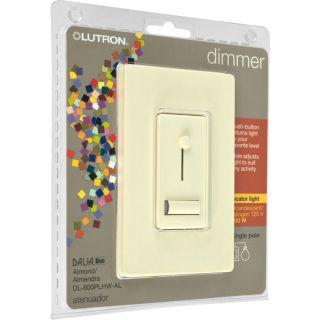 Lutron Dalia Duo Dimmer 600W Single Pole Switch