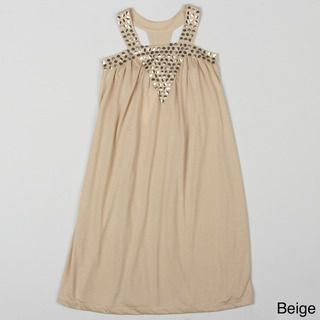 Paulinie Collection Girls Studded Detail Dress