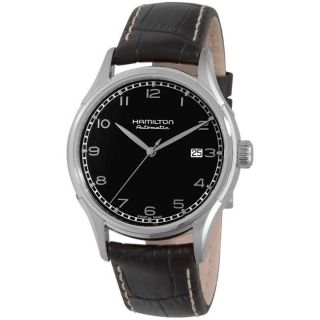 Hamilton Mens Valiant Black Strap Automatic Watch