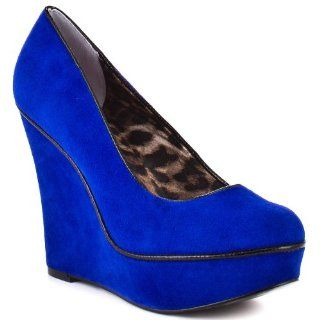 Womens Shoe Mixxy   Blue Suede by Betsey Johnson Shoes