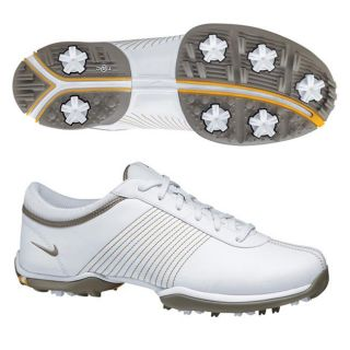 Nike Womens Delight II White/ Gold Golf Shoes