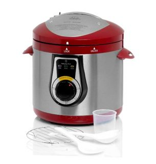 Wolfgang Puck Elite Red Heavy Duty 7 quart Electric Pressure Cooker