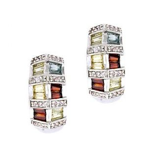 Collette Z Sterling Silver Colored Cubic Zirconia Earrings MSRP $140