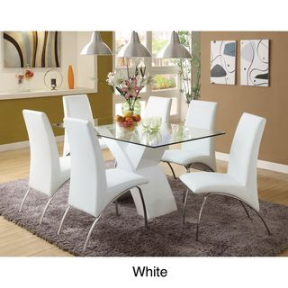 Chambers 7 piece Contemporary Glass Top Dining Set