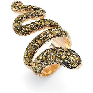 black and brown crystal snake ring msrp $ 72 00 sale $ 38 69 off