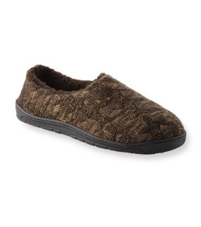 Muk Luks Neal Brown Cable Knit Slippers