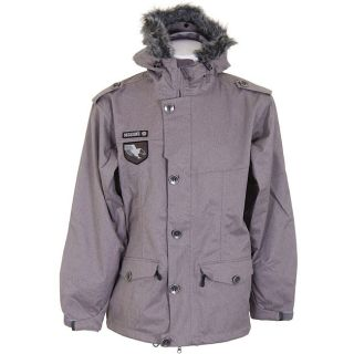 Sessions Recon Mens Heringbone Grey Snowboard Jacket
