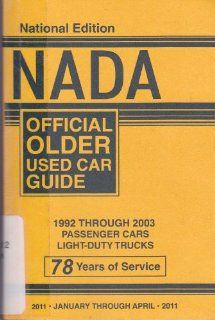 NADA Offical Older Used Car Guide   1992 through 2003 Passenger Cars
