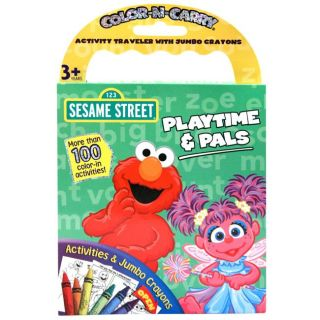 Sesame Street Color and Carry Activity Book