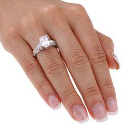 Tacori Platinum Cubic Zirconia and 1ct TDW Diamond Engagement Ring (G