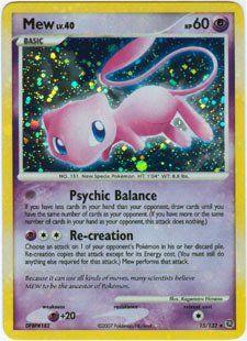 Pokemon Diamond and Pearl Secret Wonders Foil Mew 15/132 Toys & Games