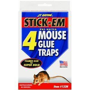 JT Eaton 133N Stick Em Glue Mouse Trap, set of 4 Patio