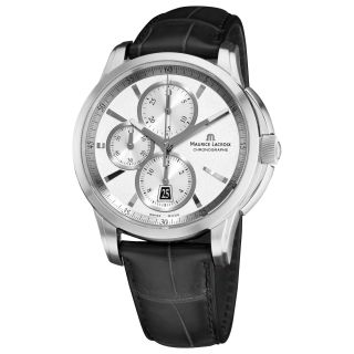 Maurice Lacroix Mens Pontos Silver Chronograph Dial Watch