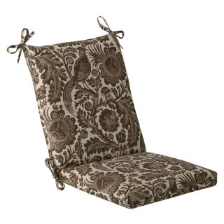 Pillow Perfect Outdoor Brown/ Beige Floral Square Chair Cushion