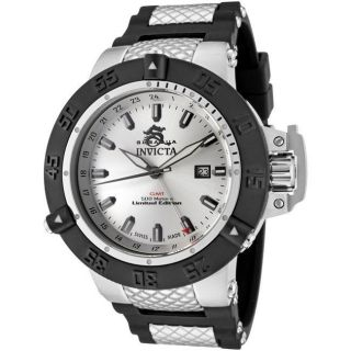 Invicta Mens Subaqua Black Rubber and Stainless Steel GMT Watch