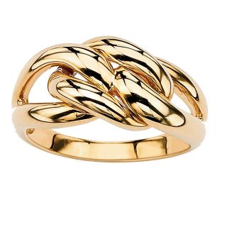 Toscana Collection Gold over Silver Interlocking Loop Ring