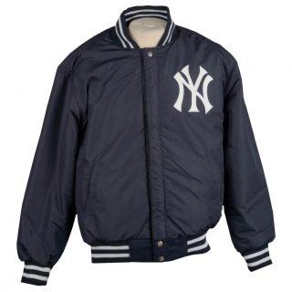 JH Designs Mens New York Yankees Reversible Wool Varsity Jacket