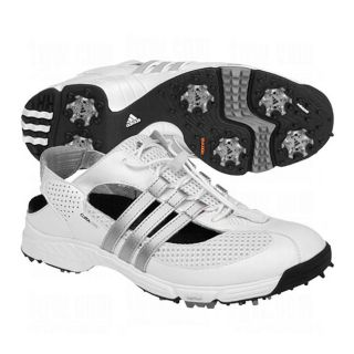 Adidas Womens CC Slingback 2.0 White/ Silver Golf Shoes