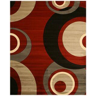 Dunes Red/ Grey Rug (53 x 77)