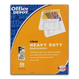 Office Depot 8.5x11 in Clear Heavy duty Sheet Protectors (Pack of 200
