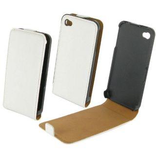 Etui Coque Cuir Blanc  Apple iPhone 4S   Idéal pour protéger votre