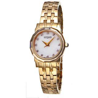 Wittnauer Womens Goldplated Winter Garden Watch