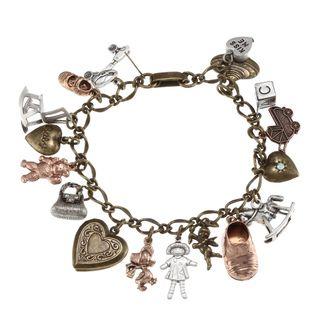 Sweet Romance Vintage Baby Mother Charm Bracelet
