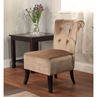 Anna Brown Velvet Accent Chair