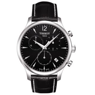 Tissot Mens Tradition Leather Strap Chronograph Watch