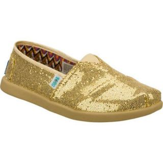 Girls Skechers BOBS World Gold/Gold