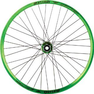Azonic Outlaw 135 26 wheelset, F/R Ano Green Sports