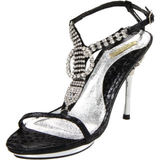 Celeste Womens Joyce 06 Black T strap Sandals