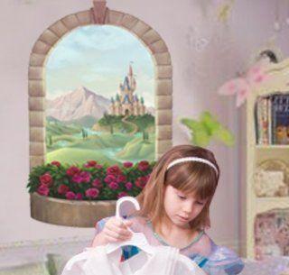Castle Window Mural Wall Decal Girls Room Wall Decor Home