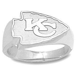 Kansas City Chiefs KC Logo Mens Ring   Sterling Silver