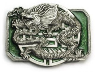 CHINESE DRAGON Belt Buckle Oriental Fantasy Gothic Asian