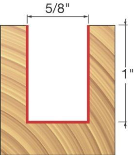 Freud 12 136 5/8 Inch Diameter by 1 Inch Double Flute Straight Router
