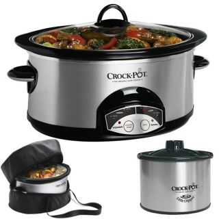Crock Pot 6 qt Oval Programmable Slow Cooker with Little Dipper and