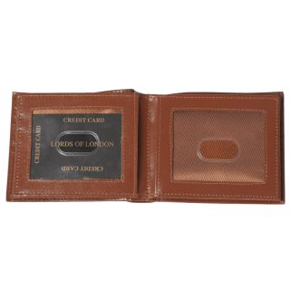 Boston Traveler Mens Genuine Leather Bi fold Wallet