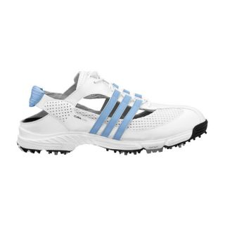 Adidas Womens CC Slingback 2.0 White/ Blue Golf Shoes