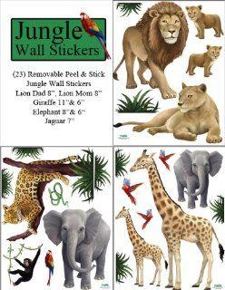 Jungle Animal Wall Decals (23) Peel & Stick Wild Jungle