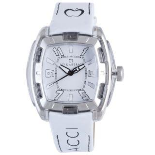 Baci Abbracci Womens White Patent Leather Watch