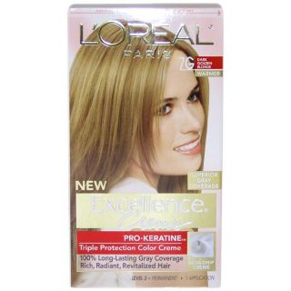 Oreal Excellence Creme Pro Hair Color   Keratine #7G Dark Golden