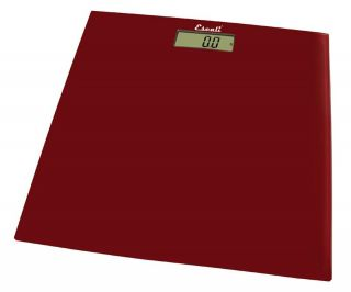 Escali B180SRR Rio Red Glass Platform Bathroom Scale