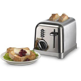 Cuisinart CPT 160BCH Black Chrome 2 slice Toaster (Refurbished